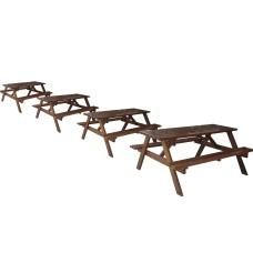 Шест местна маса за градината